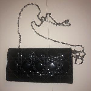 Lady Dior mini clutch/purse Black Wallet